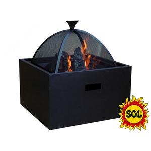 square fireplace SOL 3v1, SOL