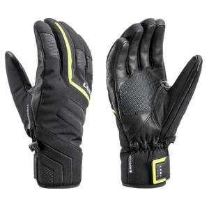 Ski gloves LEKI Falcon 3D black / lime, Leki