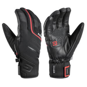 Ski gloves LEKI Falcon 3D black / red, Leki