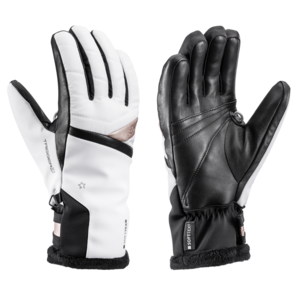 Ski gloves LEKI Snowfox 3D Lady white / gold, Leki