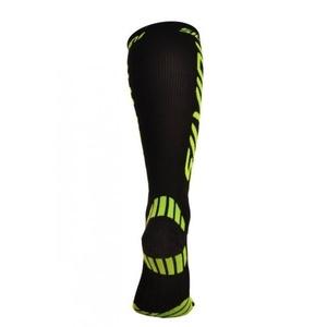 Compression knee socks Silvini Casalone UA562 black-neon, Silvini