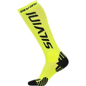 Compression knee socks Silvini Casalone UA562 neon-black, Silvini