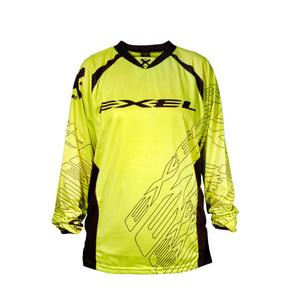 Goalkeeper jersey EXEL G1 GOALIE JERSEY #1 YEL LOW / BLACK, Exel