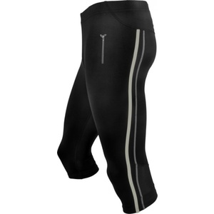 Men 3/4 running pants Silvini Lambro MP386 black