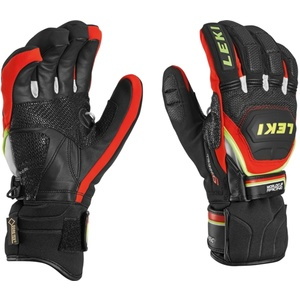 Gloves Leki Worldcup Race Coach Flex S GTX black-red-white-yellow 634-80123, Leki