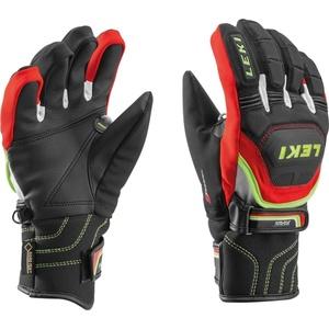 Gloves Leki Worldcup Race Coach Flex S GTX Junior black-red-white-yellow 634-80121, Leki
