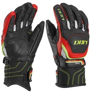 Gloves Leki Worldcup Race Flex S Junior black-red-white-yellow 634-80031, Leki