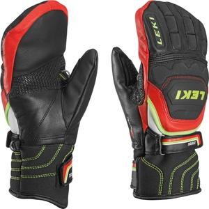 Gloves Leki Worldcup Race Flex S Junior Mitten black-red-white-yellow 634-80051, Leki