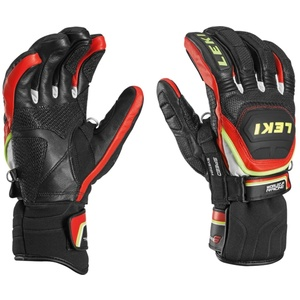 Gloves Leki Worldcup Race Flex S Speed System black-red-white-yellow 634-80143, Leki
