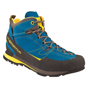Shoes La Sportiva Boulder X Mid GTX blue / yellow, La Sportiva