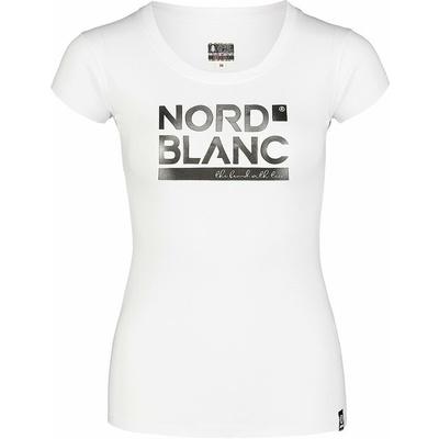 Women's cotton t-shirt NORDBLANC Ynud white NBSLT7387_BLA, Nordblanc