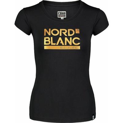 Women's cotton t-shirt NORDBLANC Ynud black NBSLT7387_CRN, Nordblanc