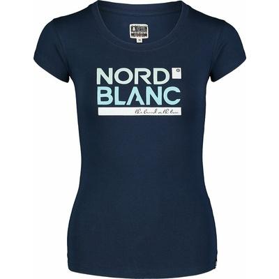 Women's cotton t-shirt NORDBLANC Ynud blue NBSLT7387_MOB, Nordblanc
