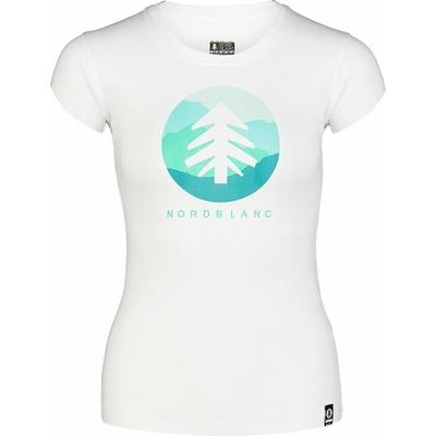 Women's cotton t-shirt NORDBLANC Suntre white NBSLT7388_BLA, Nordblanc