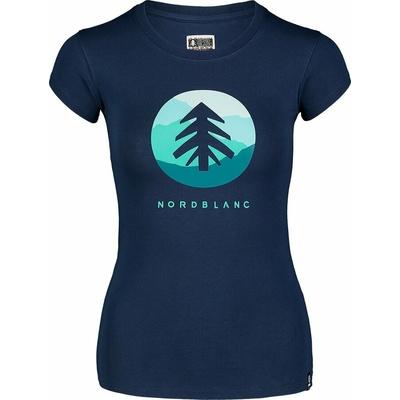 Women's cotton t-shirt NORDBLANC Suntre blue NBSLT7388_MOB, Nordblanc