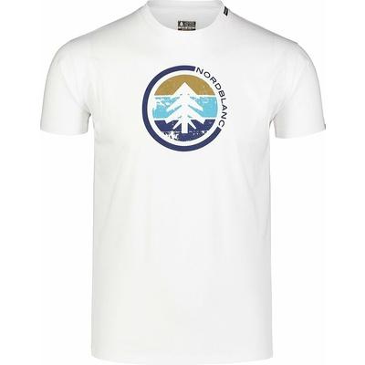 Men's cotton shirt Nordblanc TRICOLOR white NBSMT7397_BLA, Nordblanc