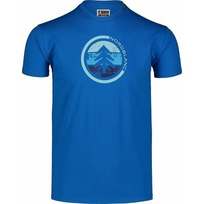 Men's cotton shirt Nordblanc TRICOLOR blue NBSMT7397_INM, Nordblanc