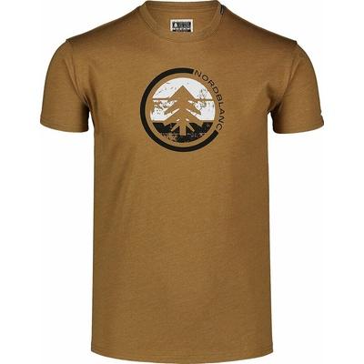 Men's cotton shirt Nordblanc TRICOLOR brown NBSMT7397_PUH, Nordblanc