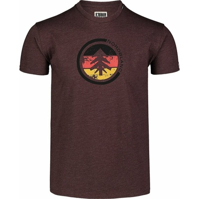 Men's cotton shirt Nordblanc TRICOLOR brown NBSMT7397_RUH, Nordblanc