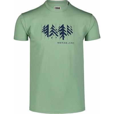 Men's cotton shirt Nordblanc DECONSTRUCTED green NBSMT7398_PAZ, Nordblanc