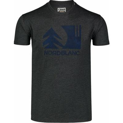 Men's cotton shirt Nordblanc TREETOP black NBSMT7399_CEM, Nordblanc