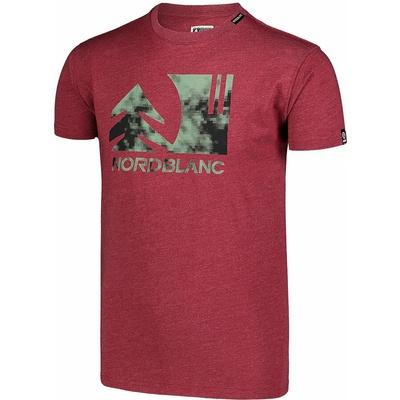 Men's cotton shirt Nordblanc TREETOP wine NBSMT7399_HCA, Nordblanc