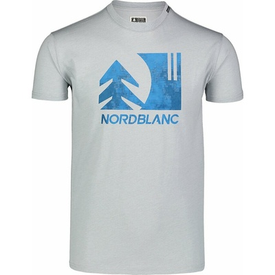 Men's cotton shirt Nordblanc TREETOP gray NBSMT7399_SSM, Nordblanc