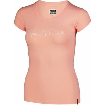 Women's cotton t-shirt NORDBLANC Calligraphy orange NBSLT7400_JME, Nordblanc