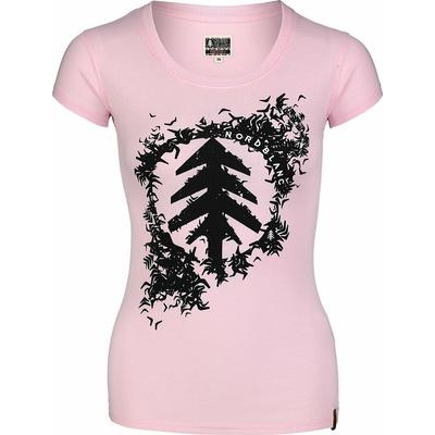Women's cotton t-shirt NORDBLANC Flock pink NBSLT7401_RUT