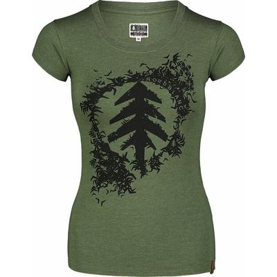 Women's cotton t-shirt NORDBLANC Flock green NBSLT7401_ZSA