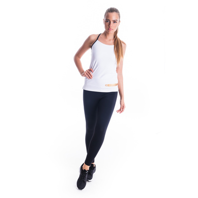 Women's fitness top Nordblanc Strappy white NBSLF7449_BLA, Nordblanc