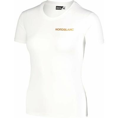 Women's functional t-shirt Nordblanc Training white NBSLF7450_BLA, Nordblanc