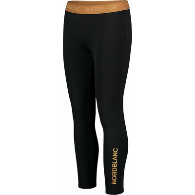 Women's fitness leggings Nordblanc Flexibility black-orange NBSPL7454_CRN, Nordblanc