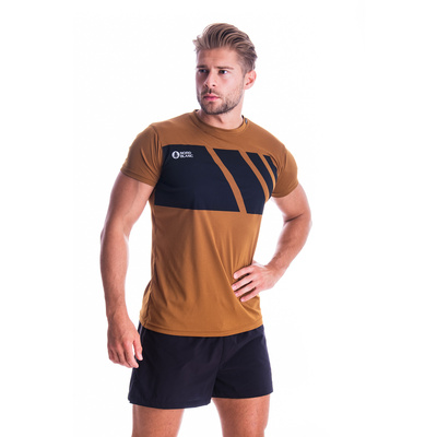 Men's T-Shirt Nordblanc Legacy brown NBSMF7458_PUH, Nordblanc