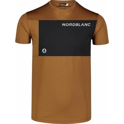 Men's fitness t-shirt Nordblanc Grow brown NBSMF7460_PUH, Nordblanc