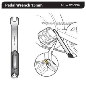 Key Topeak Pedal Wrench 15mm TPS-SP20, Topeak