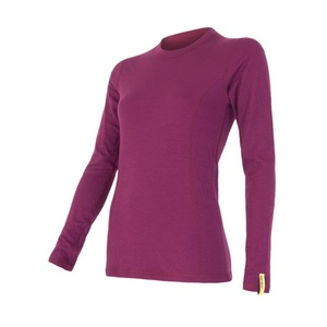 Women shirt Sensor MERINO DOUBLE FACE lilla 15100030, Sensor