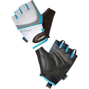 Bike gloves Chiba LADY GEL white-turquoise 30905.0118, Chiba