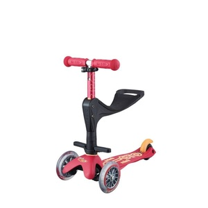Scooter Mini Micro Deluxe 3v1 Plus Ruby Red, Micro