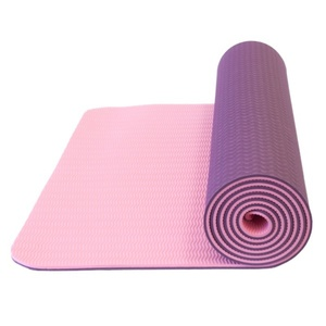 Mat to yoga Yate YOGA MAT DOUBLE-LAYER dark purple / pink, Yate