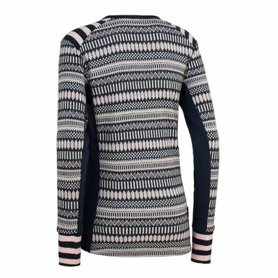 Women's wool long sleeve shirt Kari Traa Åkle LS blue, Kari Traa