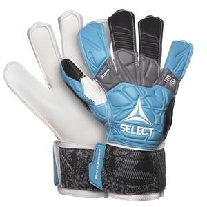 Goalkeepers gloves Select GK gloves 22 Flexi Grip Flat cut blue black, Select