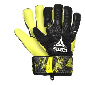 Goalkeepers gloves Select GK gloves 77 Super Grip Hyla cut black yellow, Select