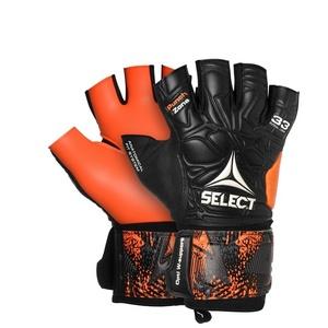 Goalkeepers gloves Select GK gloves Futsal League 33 Negative Cut black orange, Select