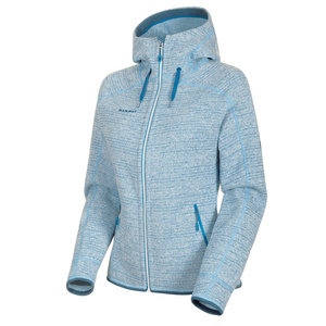 Women hoodie Mammut Arctic ML Hooded Jacket Women brigh white saphire melange 00367 (1014-15703), Mammut