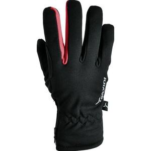 Men gloves Silvini TRELCA MA733 black-red, Silvini