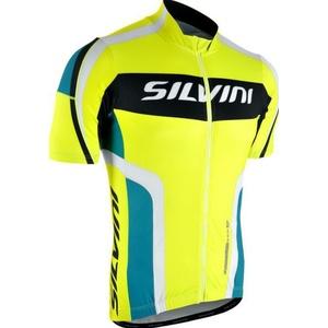 Men cycling jersey Silvini LEMME MD603 neon-ocean, Silvini