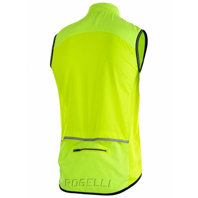 Cycling vest Rogelli MOVE with breathable back, reflection yellow 004.202, Rogelli