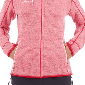 Women hoodie Mammut Arctic ML Hooded Jacket Women blush dragon fruit melange 3554 (1014-15703), Mammut