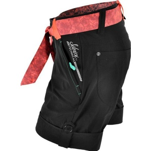 Women loose  shorts Silvini CIANE WP806 black-punch